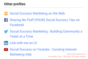 Social Media Profile Optimized for Search