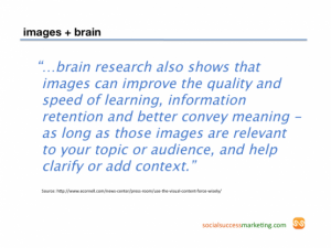 Importance of visual content according to science