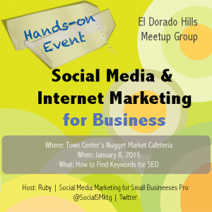 El Dorado Hills Meet up | How to Find Keywords for SEO