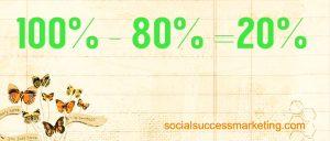 Social media explained | 80-20 rule