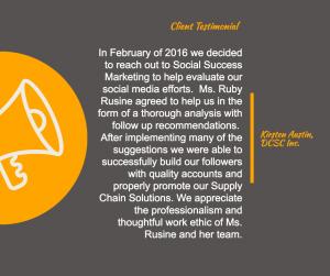 client testiomonial for social success