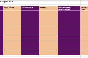 social media content management calendar
