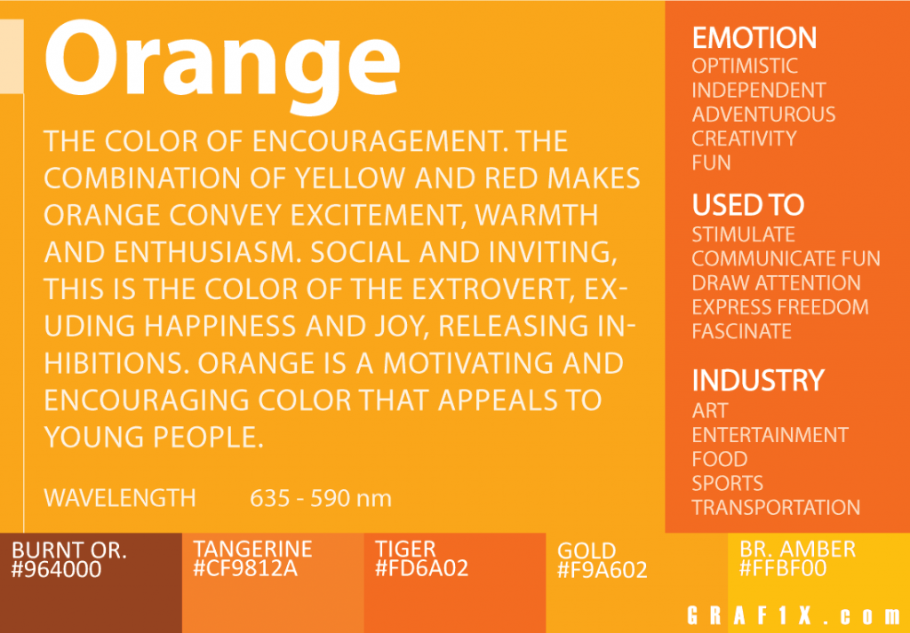 color design context meaning of orange