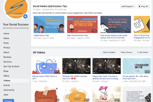 facebook video library