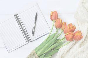 background image orange tulips