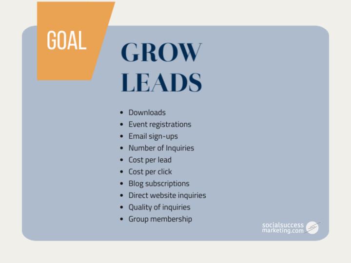 social media leads metrics