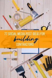 building contractors social media post ideas